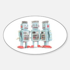 Vintage Robots Oval Decal