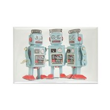 Vintage Robots Rectangle Magnet