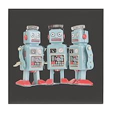 Vintage Robots Tile Coaster