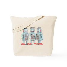 Vintage Robots Tote Bag