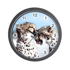 Cheetah Love Wall Clock