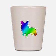 Rainbow Corgis Shot Glass