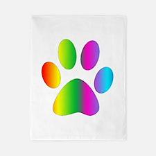 Rainbow Paw Print Twin Duvet
