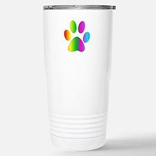 Rainbow Paw Print Travel Mug