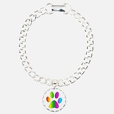 Rainbow Paw Print Bracelet