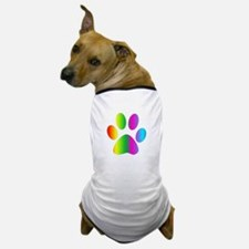 Rainbow Paw Print Dog T-Shirt