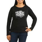 Uufoh Grunge Womens Black Long Sleeve T-Shirt
