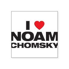 """Cute Chomsky Square Sticker 3"""" x 3"""""""