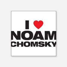 "Cute Noam chomsky Square Sticker 3"" x 3"""