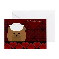 Valentine To Love Navy Sailor Card Greeting Cards