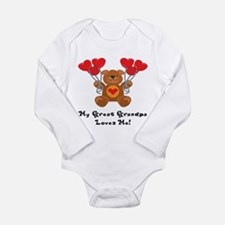 Cute Grandpa loves me Long Sleeve Infant Bodysuit