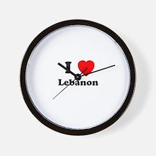 I heart Lebanon Wall Clock