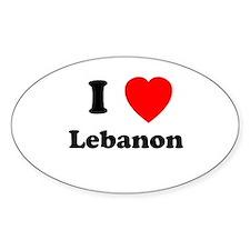 I heart Lebanon Oval Decal