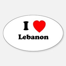 I heart Lebanon Oval Decal