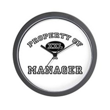 Property of a Manager Wall Clock