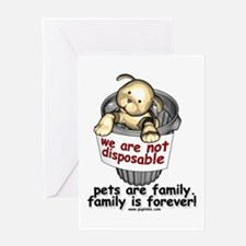 Not disposable Greeting Card