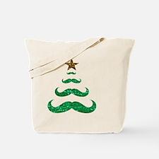 Cool Mustache christmas tree Tote Bag