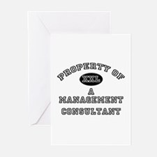 Property of a Management Consultant Greeting Cards