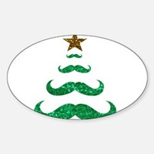 mustache christmas tree Decal