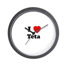 I heart Teta Wall Clock