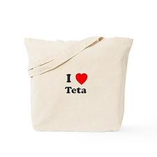 I heart Teta Tote Bag