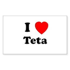 I heart Teta Rectangle Decal