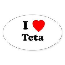 I heart Teta Oval Decal