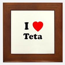 I heart Teta Framed Tile