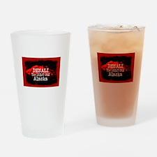 DENALI MOUNTAIN ALASKA RED Drinking Glass