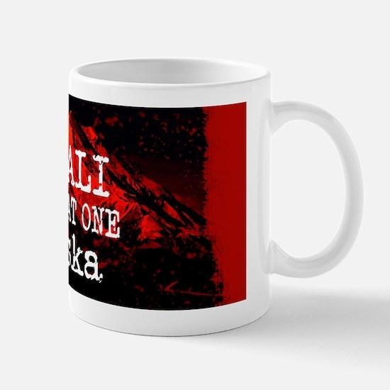 DENALI MOUNTAIN ALASKA RED Mugs