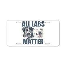 All Labs Matter Aluminum License Plate