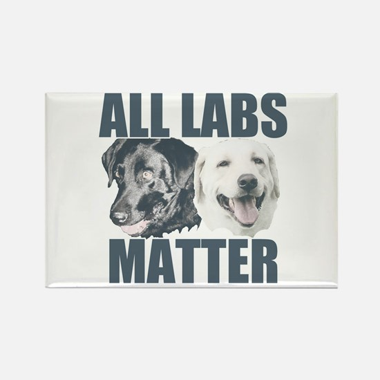 All Labs Matter Rectangle Magnet