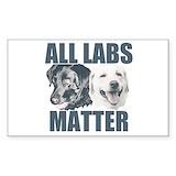 Funny black lab Single