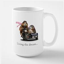 Prairie dogs, living the dream Large Mug