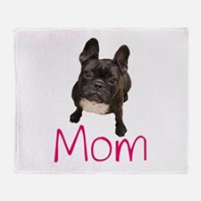 Funny French bull dogs Throw Blanket