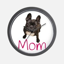 Unique Bulldog mom Wall Clock
