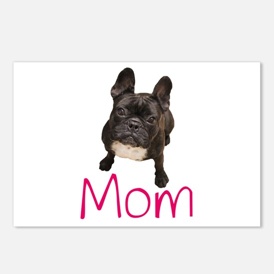 Funny French bull dogs Postcards (Package of 8)