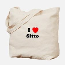 I heart Sitto Tote Bag
