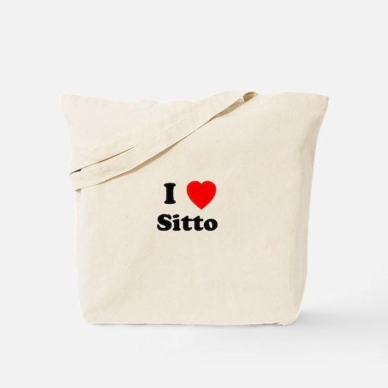 I heart Sitto Tote Bag