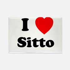 I heart Sitto Rectangle Magnet