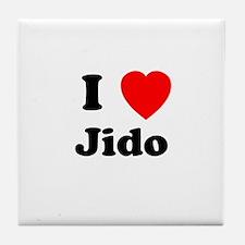 I heart Jido Tile Coaster