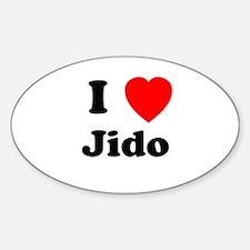 I heart Jido Oval Decal