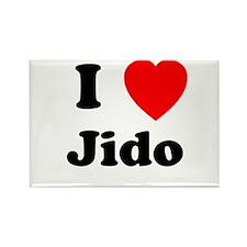 I heart Jido Rectangle Magnet