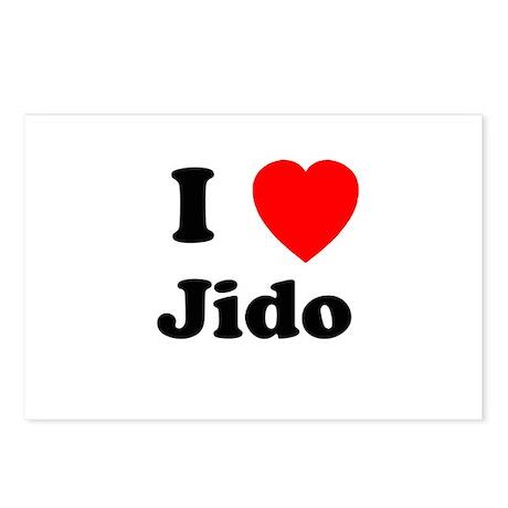 I heart Jido Postcards (Package of 8)