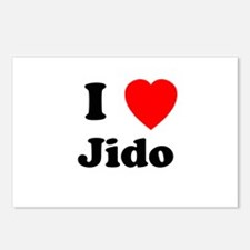 I heart Jido Postcards (Package of 8)