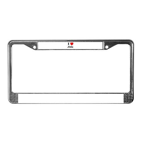 I heart Jido License Plate Frame