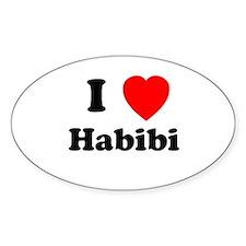 I heart Habibi Oval Decal