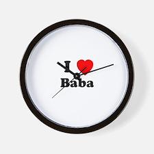 I heart Baba Wall Clock