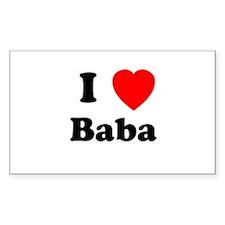 I heart Baba Rectangle Decal