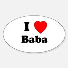 I heart Baba Oval Decal